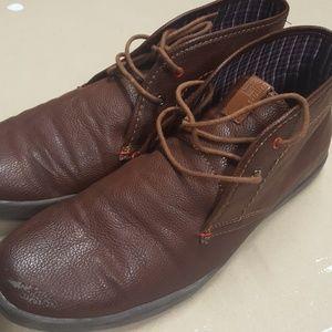 Ben Sherman mid top boots dark cognac victor